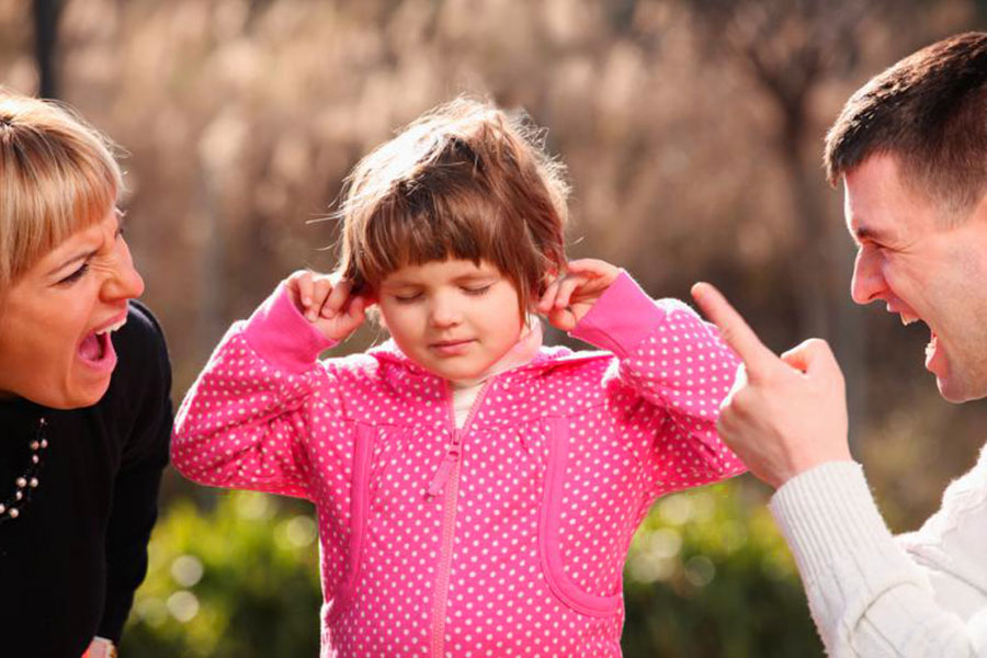 separazione genitori bambina non ascolta