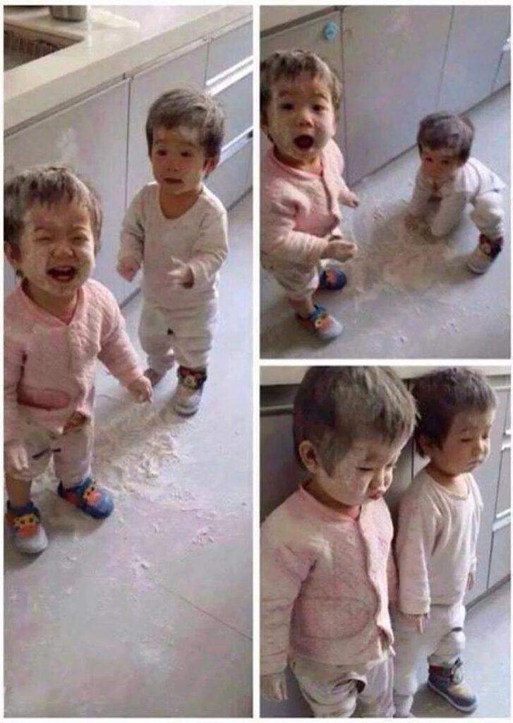 Giocare con la farina può non essere così divertente