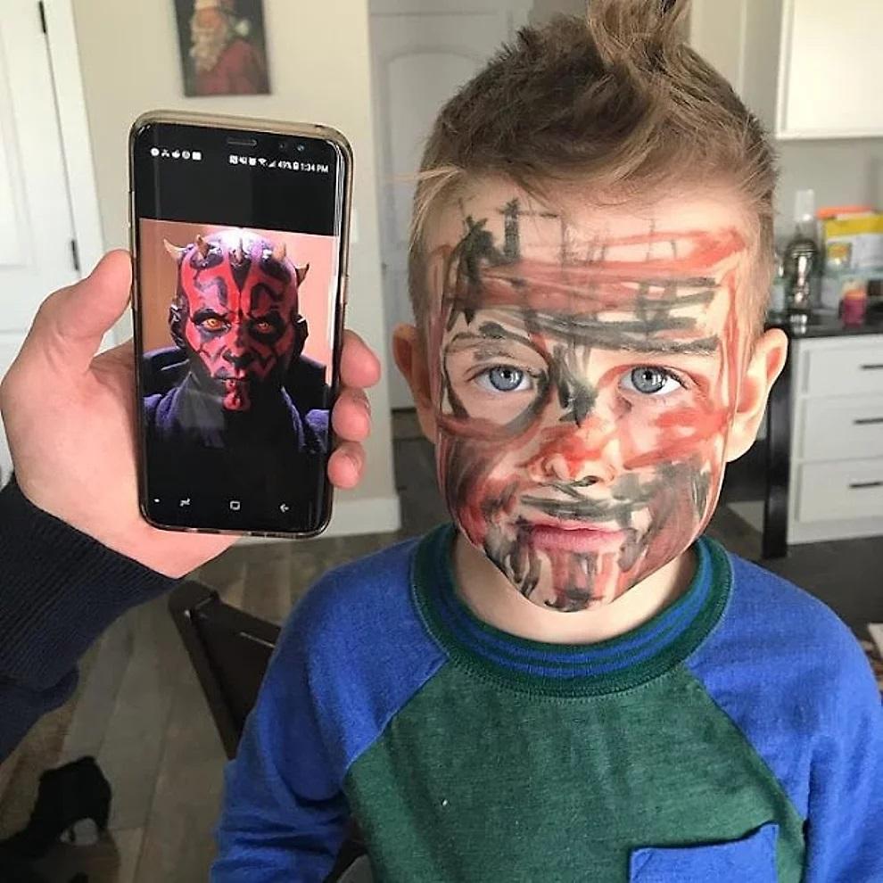Bambini che vogliono assomigliare a Darth Maul