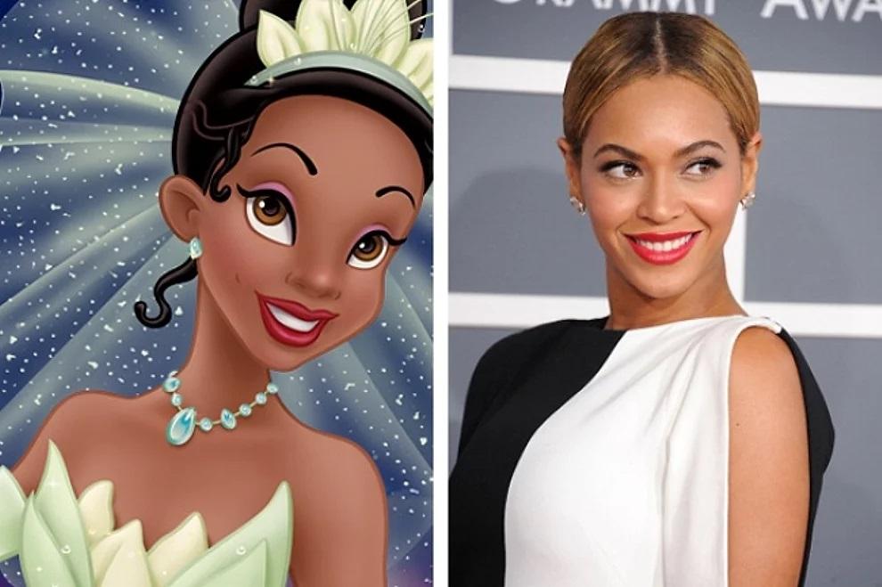 Principessa Tiana e Beyoncé