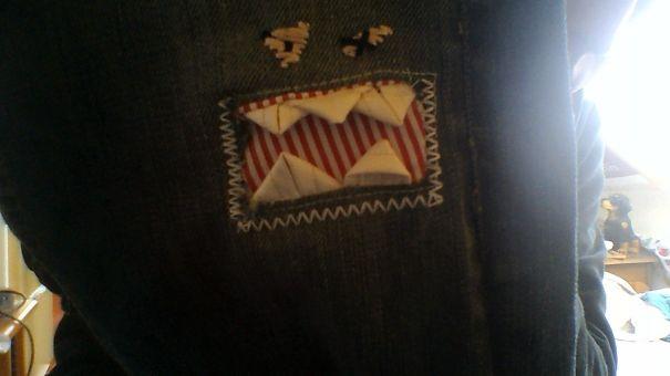 buchi dei pantaloni