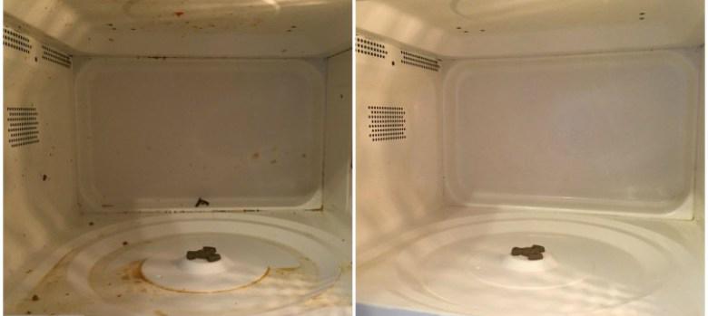 pulire il forno a microonde