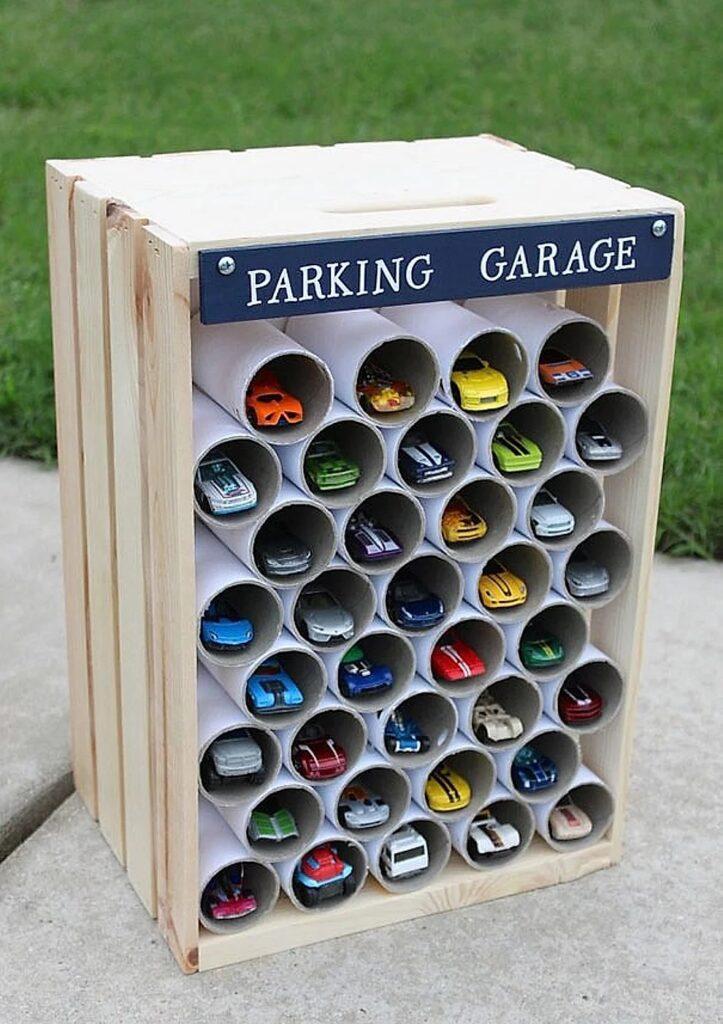 Creare un garage per le automobiline giocattolo