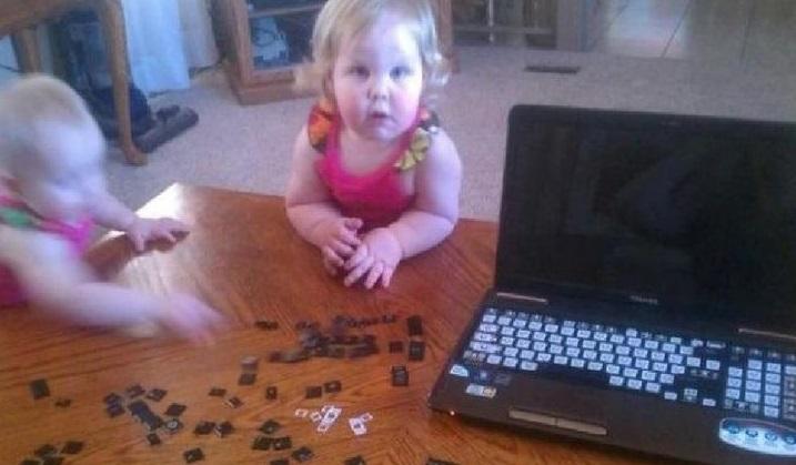pezzi inutili della tastiera del computer