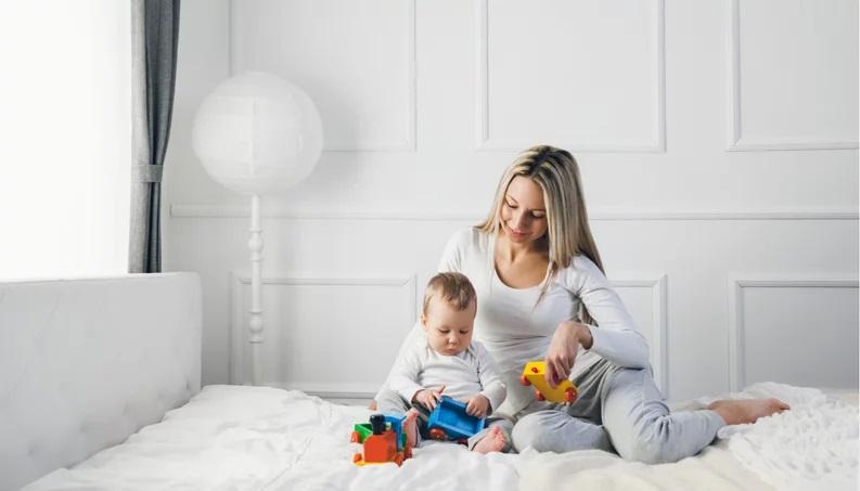 Mamma con un figlio maschio