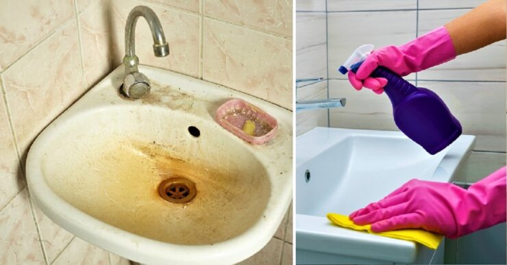 Come pulire perfettamente il lavandino del bagno