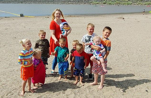 Courtney Rogers e i suoi figli