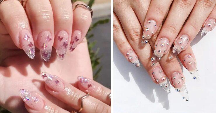 unghie effetto cristallo
