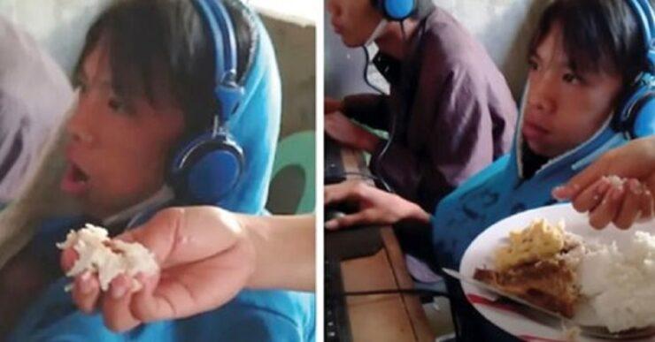 Madre disperata costretta ad alimentare il figlio