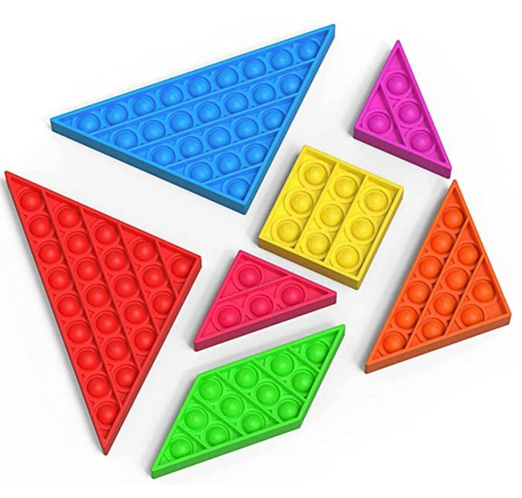 C&X Pop It Fidget Toys Tangram 7 Pezzi