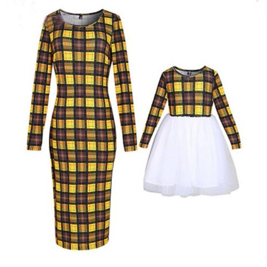 abiti giallo e nero