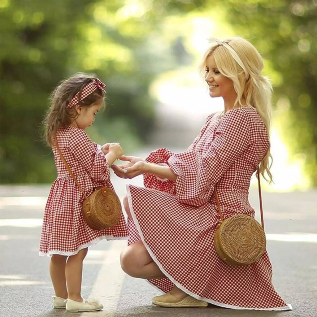 CWENROU Vestito da Madre E Figlia