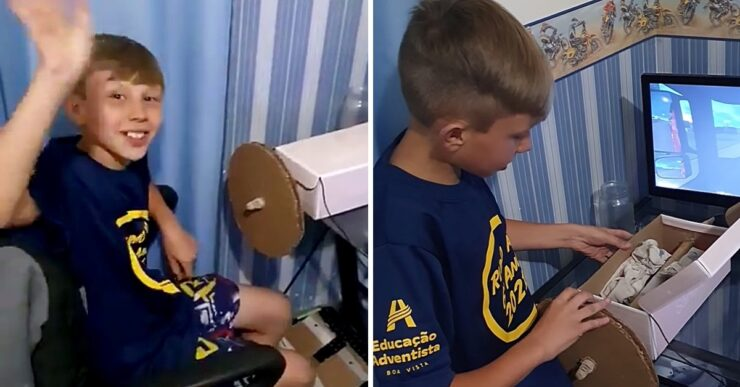 Bimbo di 10 anni costruisce un volante
