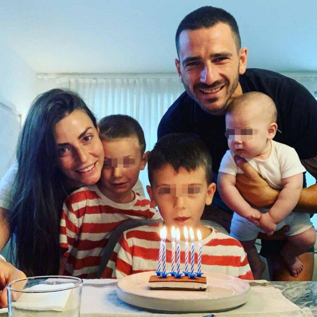 Leonardo Bonucci e la sua famiglia