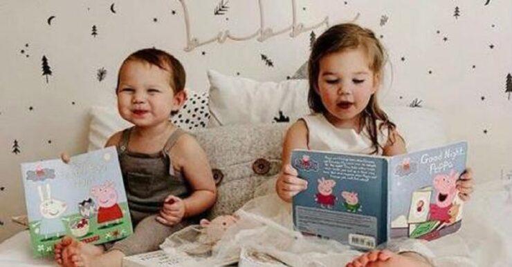 Metti tuo figlio a letto con un libro