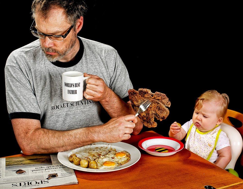 A tavola con il neonato