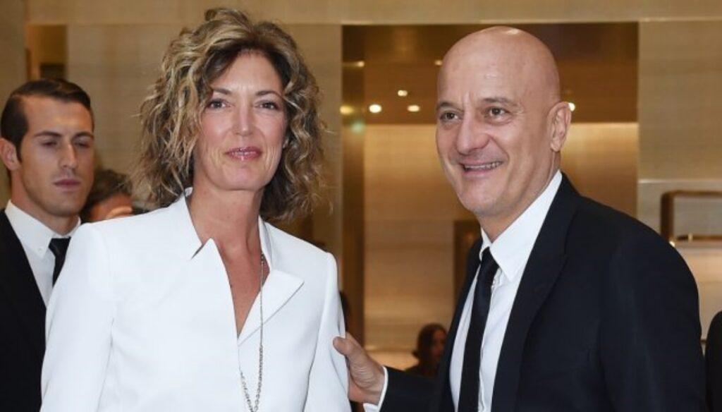 Claudio Bisio e la moglie