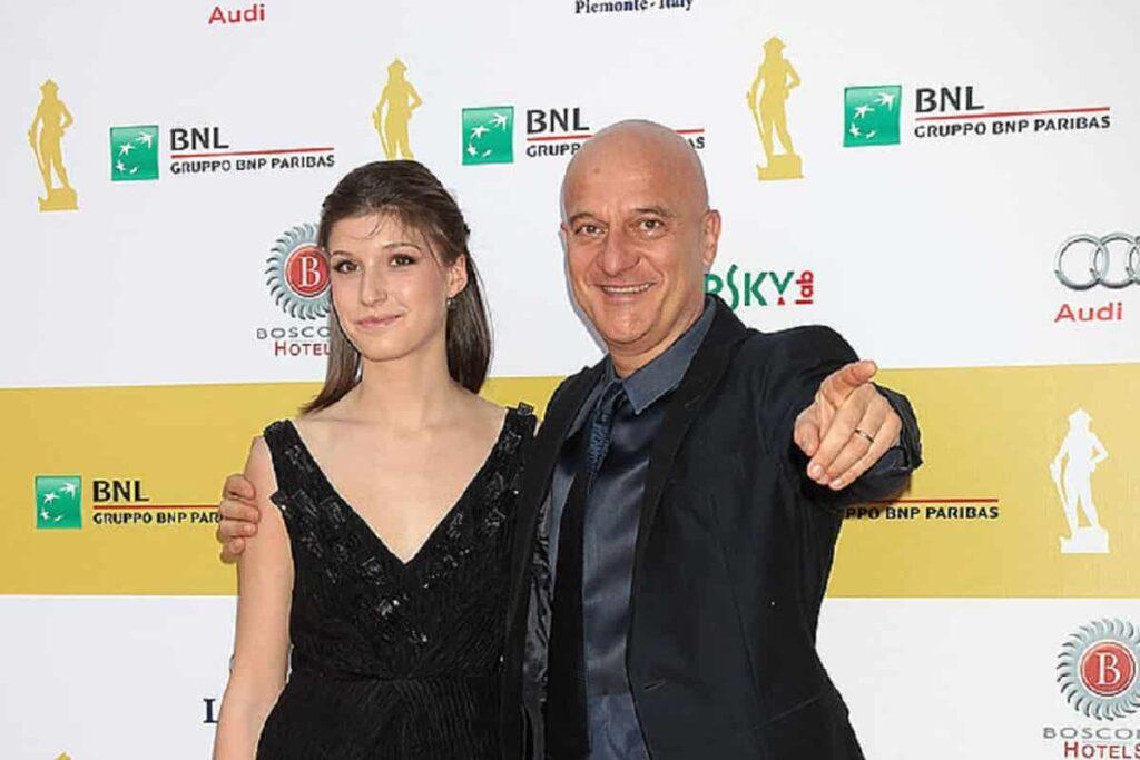 Claudio Bisio e la figlia