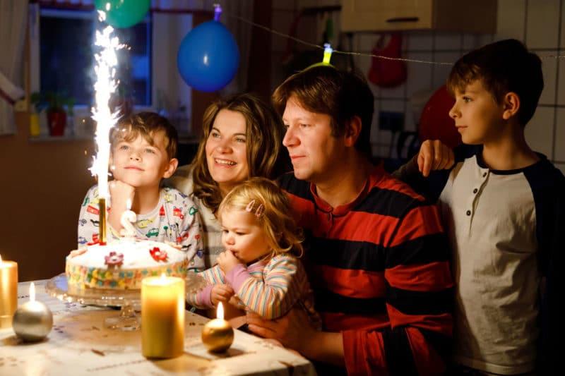Festeggia sempre il compleanno dei tuoi figli