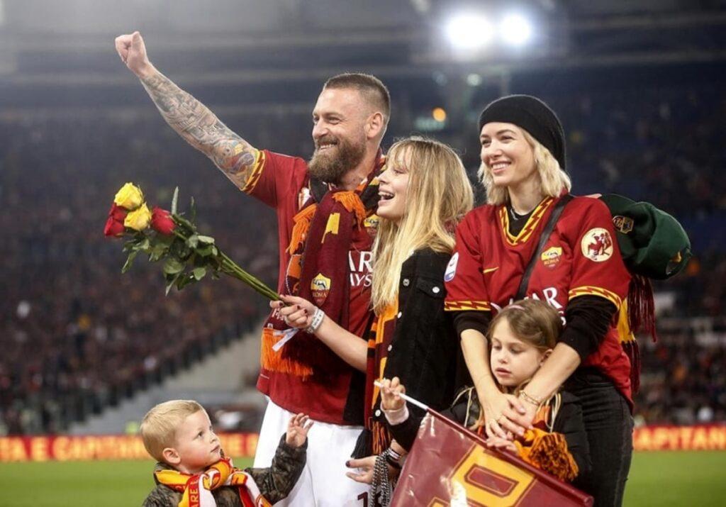 Daniele De Rossi e la sua famiglia