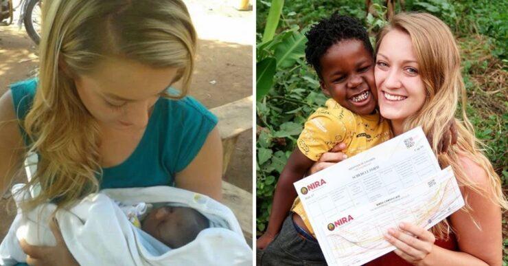 Donna ha adottato un bambino orfano dall'Uganda