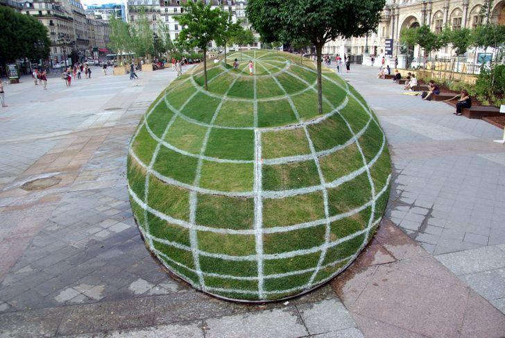 illusione ottica realizzata a Parigi