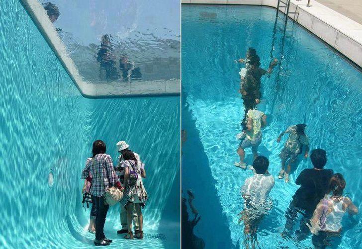 piscina è decisamente inquietante