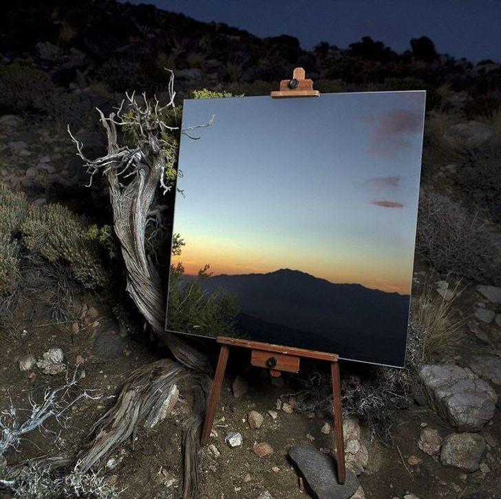 specchio posizionato nel posto giusto