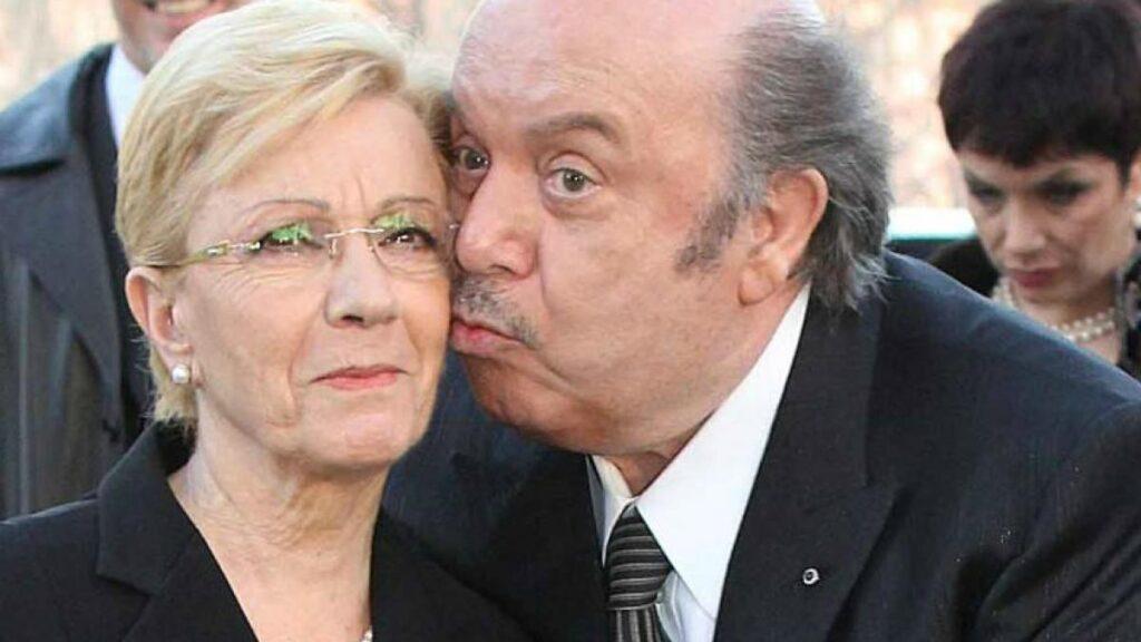 Lino Banfi e la moglie