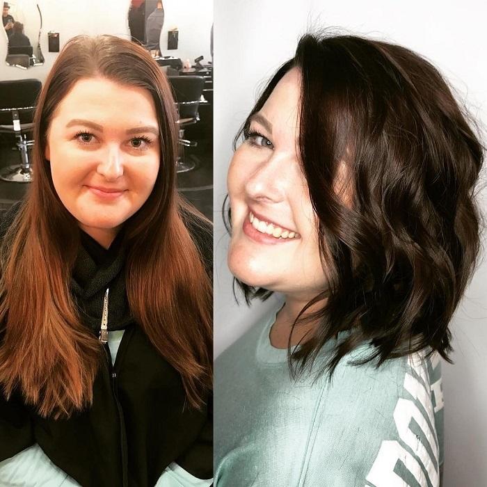 Taglio di capelli corto e riccio