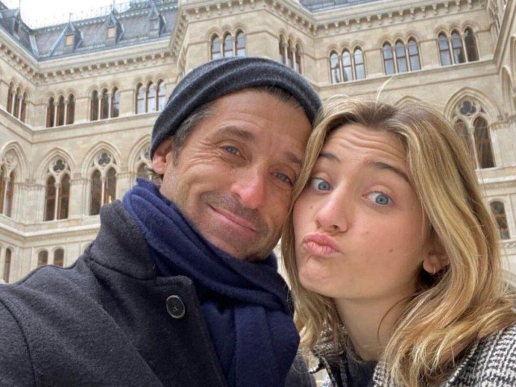Patrick Dempsey e la figlia