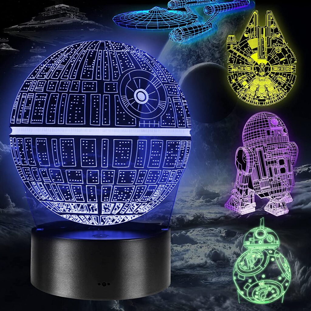 Lampada LED 3D Star Wars