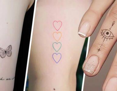 simpatici tatuaggi piccoli minimalisti