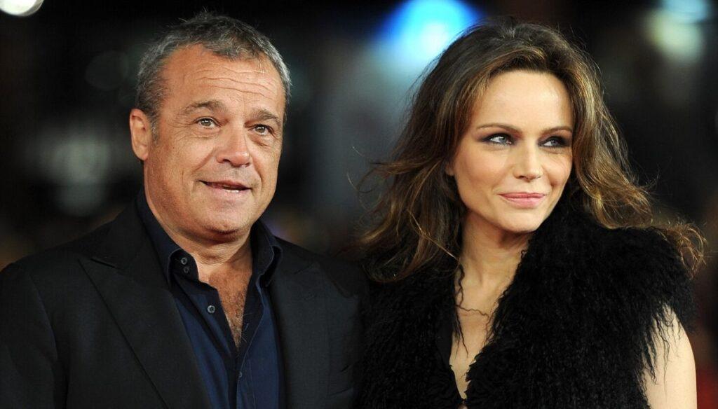 Claudio Amendola e la moglie