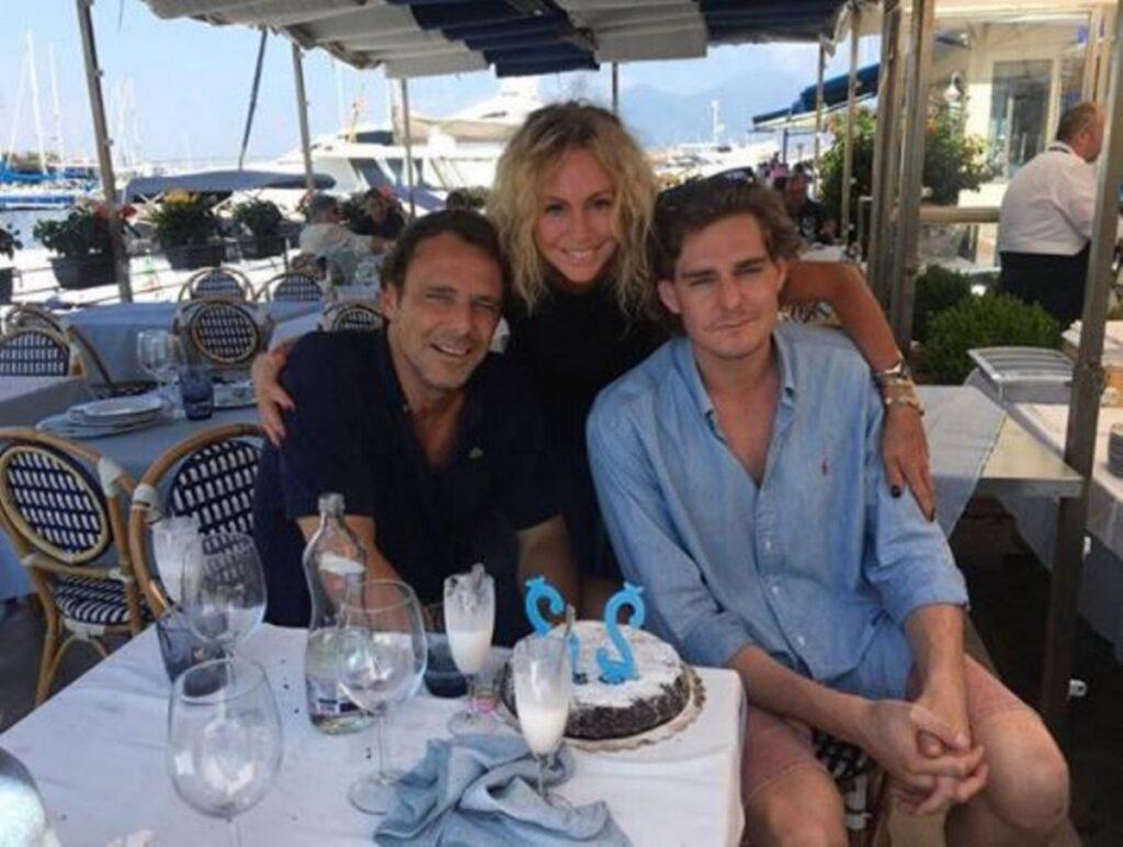 Alessandro Preziosi e la sua famiglia