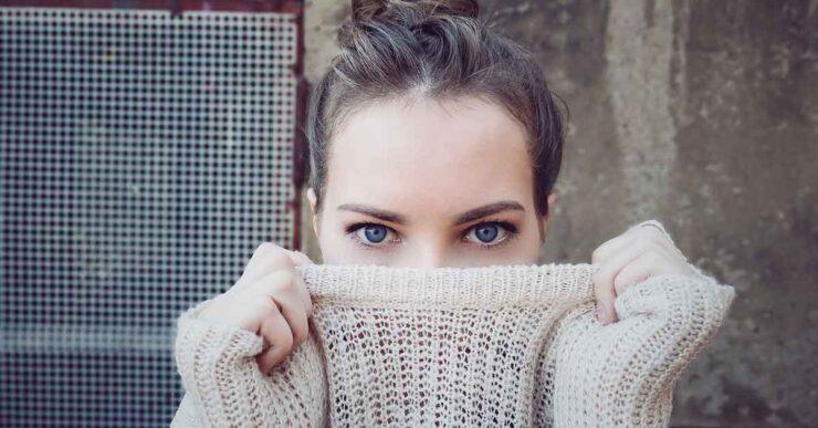 maglione di lana rovinato