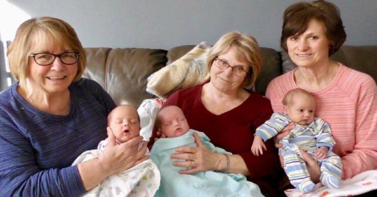 mamma di 3 gemelli