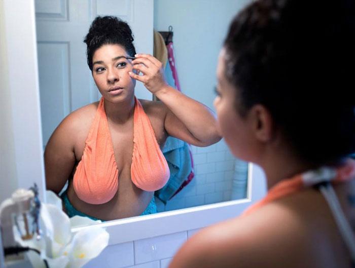 Asciugamano in spugna per il seno