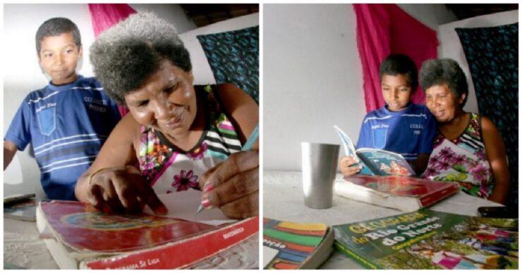Donna di 42 anni impara a leggere grazie al figlio di 11 anni