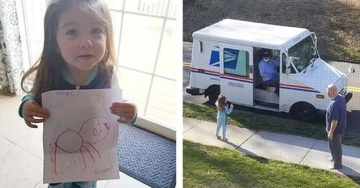 Bambina scrive al suo cane