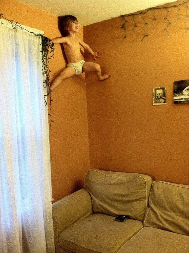 bambino uomo ragno
