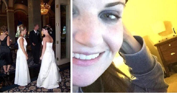 Suocera in abito da sposa