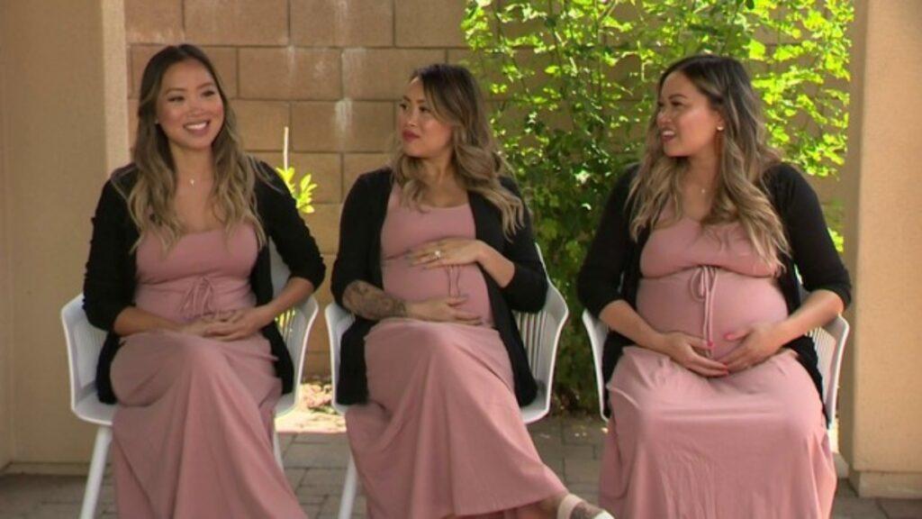 tre gemelle incinte insieme